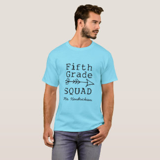 5th Grade Squad Personalized Teacher T-shirt
