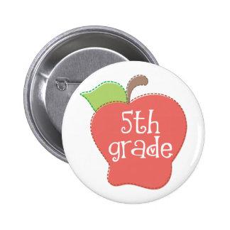 5th Grade Teacher Apple Buttons