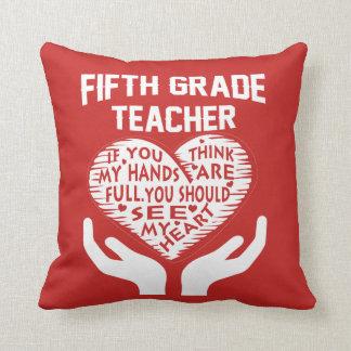 5th Grade Teacher Cushion
