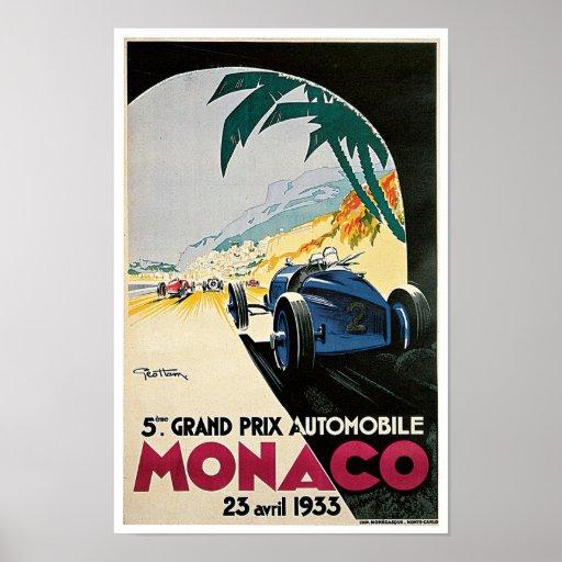 5th Grand Prix de Monaco Print