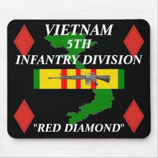 5th Infantry Vietnam Mousepad 2/b