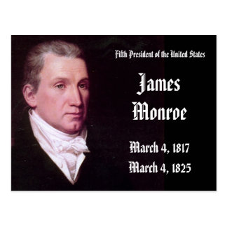 5th President Of the United States James Monroe Postcard