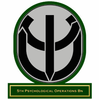5th Psychological Operations Battalion flash Standing Photo Sculpture