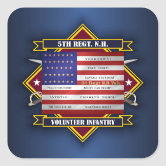 5th Regiment New Hampshire Volunteers Square Sticker