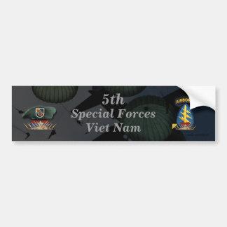 5th special forces green berets nam Bumper Sticker