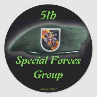 5th Special forces Green Berets SF SFG SOF Round Sticker