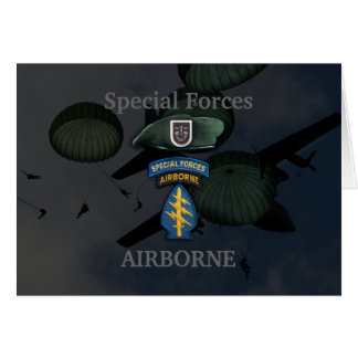 5th special forces green berets veterans Card