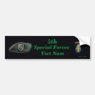 5th special forces green berets vietnam nam war bumper sticker