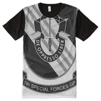 5th Special Forces Group Emblem USA All-Over Print T-Shirt