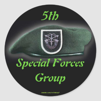 5th Special forces group fort campbell veterans Classic Round Sticker