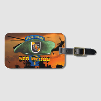 5th Special Forces Group Green Berets SFG SF Vets Luggage Tag