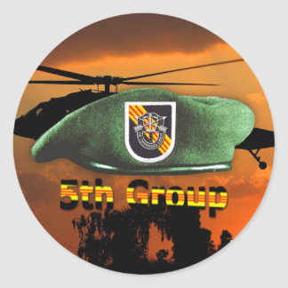 5th Special Forces Group Green Berets SFG SF Vets Round Sticker