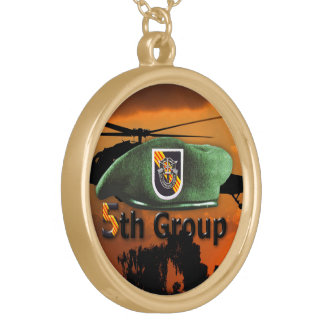 5th Special Forces Group SFG SF Veterans LRRP Gold Plated Necklace