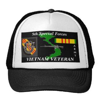5th Special Forces Vietnam Veteran Ball Caps Mesh Hats