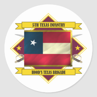 5th Texas Infantry Classic Round Sticker