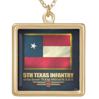 5th Texas Infantry Gold Plated Necklace