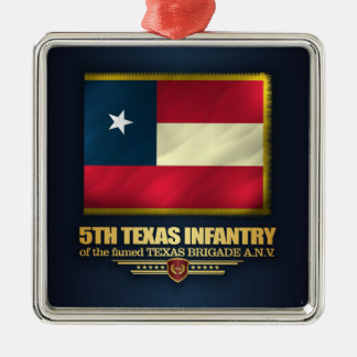 5th Texas Infantry Silver-Colored Square Decoration