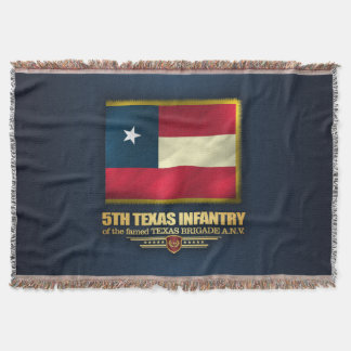 5th Texas Infantry Throw Blanket