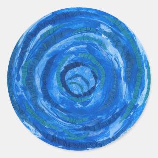 5th-Throat Chakra Healing Art #2 Classic Round Sticker