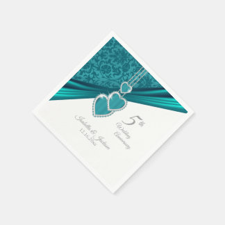 5th Turquoise Wedding Anniversary Disposable Napkin
