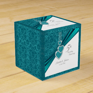 5th Turquoise Wedding Anniversary Favour Box