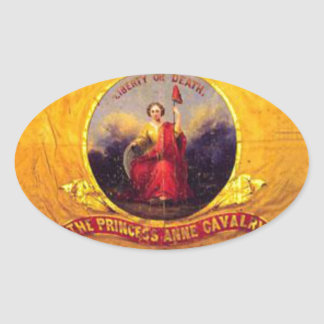 5th Virginia Cavalry  - The Princess Anne Cavalry Oval Sticker