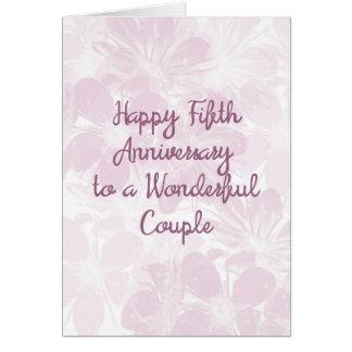 5th Wedding Anniversary Card Lavender Flowers