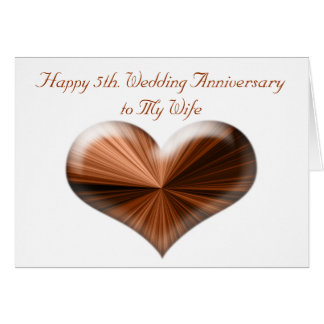 5th. Wedding Anniversary Card to Husband and Wife