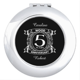 5th wedding anniversary distressed crest mirror for makeup