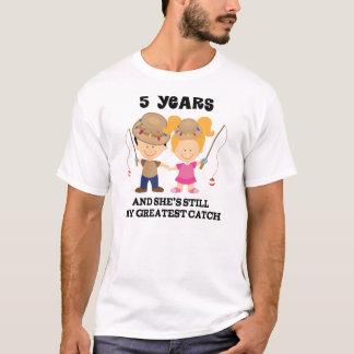 5th Wedding Anniversary Gift For Him T-Shirt