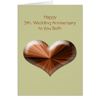 5th Wedding Anniversary Greeting Card with verse