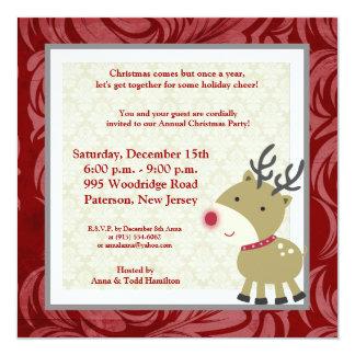 5x5 Reindeer Invitation