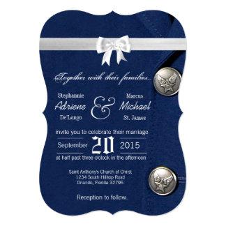 5x7 Air Force Class A Uniform Wedding Invitation