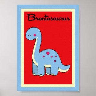 5X7 Brontosaurus Dinosaurs Wall Art Poster