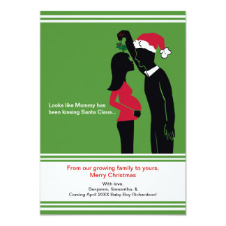 5x7 Christmas Pregnancy Announcement Cards - Mommy
