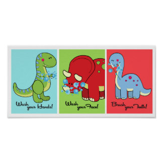 5x7 Dinosaur Dino World Bathroom Wall Art