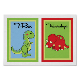 5X7 Dinosaurs Wall Art Collection Print