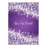 5x7 Elegant Wedding Sparkling Wave Purple 13 Cm X 18 Cm Invitation Card