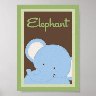 "5x7 ""Elephant"" Jungle Safari Baby Bedding Wall Art"