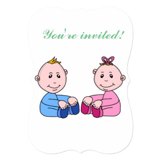 5x7 Gender Reveal Party Invitation