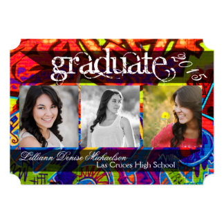 5x7 Graffiti Paint Air Brush Senior Announcement