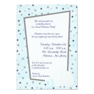 5x7 Icy Igloo Baby Blue Invitation