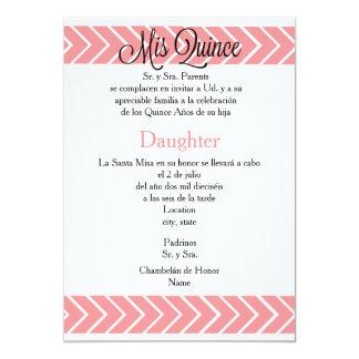 5x7 Invitation -Mis Quince - Spanish Customization