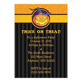 5x7 Jack o Lantern Halloween Party Invitations