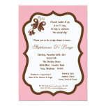 5x7 Light Pink Butterfly Baby Shower Personalized Invites