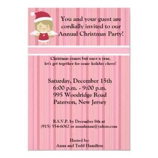 "5x7 Little Christmas Angel Invitation 5"" X 7"" Invitation Card"