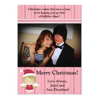 5x7 Little Christmas Angel Invitation