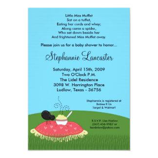 5x7 Miss Muffet Nursery Baby Shower Invitation
