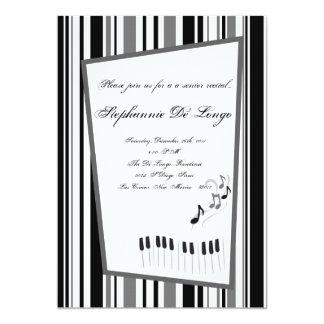 5x7 Music Notes Invitation