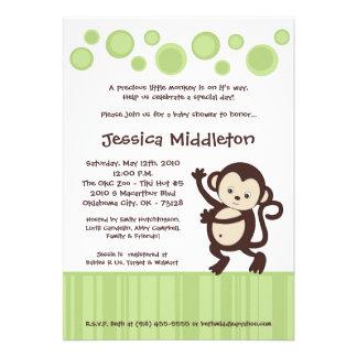 5x7 Neutra Pop Monkey Dance Baby Shower Invitation
